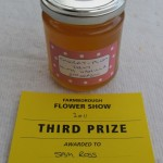 A jar of jelly which has won second prize