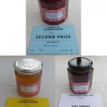 Jellies (preserves) that have won various prizes in a show