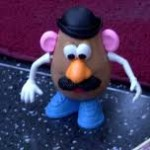 Mr Potato Head next to a red carpet