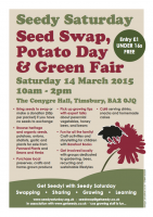 The poster for Seedy Saturday 2015