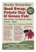 The poster for Seedy Saturday 2016